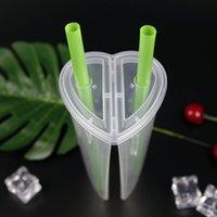 600ml herzförmige doppel teilnehmer tasse transparente kunststoff wegwerfbare tassen mit deckel milch tee saft tassen für liebhaber koppeln 361 s2