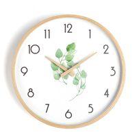 Wall Clocks Modern Design Clock Digital Wood Silent Electronic Mechanism Large Klok Nordic Watches Home Decor 50ZB048