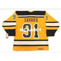 "668S # 91 Marc Savard Boston Bruins 2010 CCM 빈티지 ""겨울 클래식""하키 유니폼 또는 사용자 정의 모든 이름 또는 번호 Retro Jersey"