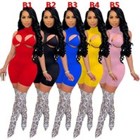 2021 Women Jumpsuit Pant Tight Sexy Bodysuit Shorts Onesies Rompers Round Neck High Neck Fashion Pullover Comfortable Clubwear Drees