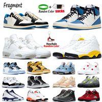 1s og fragmentar homens sapatos de basquete sneakers 4 4s branco oreo néon universidade azul 12s lagoa pulso vermelho flint 13s reverso criadores de mensendedores