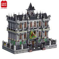 MOC Seri Arkham Lunatic Ospedale Building Blocks Architecture Bricks 7537PCS Modello Assemblato Giocattolo Regali di Natale per bambini