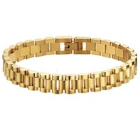 Dylam jewelry No MOQ Luxury Watch strap 18k gold plated stainls steel jewelry bracelet for men and women
