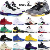 Jumpman 5 5s Ne alternatif Bel-Airs Olimpiyat Erkek Basketbol Ayakkabıları Yüksek OG Pembe Siyah Muslin Üzüm Bayan Eğitmenler Sneakers