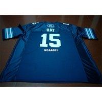 Billig 001 Toronto Argonauts Ricky Ray # 15 Blue College Jersey Größe S-4XL oder benutzerdefinierte Neiner Name oder Nummer Jersey
