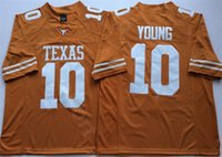 2021 uomini donne kida jerseys jerseys college texas longhorns 10 vince young jersey rosso giallo bianco