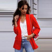 Frauenanzüge Blazer Mode Herbst Frauen Professionelle Temperament Einzelner Knopf Casual Slim Komfortable Arbeitsstil Lady Anzug Jacke Soli