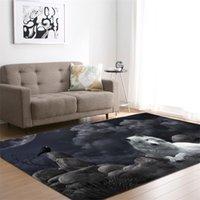 Lobo 3D Alfombras impresas para sala de estar Salón de ropa de cama Area de rectángulo grande Área de yoga Mats Moderno al aire libre Alfombras al aire libre Inicio 710 K2