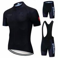 Yeni Siyah Strava Yaz Bisiklet Jersey Seti Nefes Takım Yarışı Spor Bisiklet Jersey Erkek Bisiklet Giyim Kısa Bisiklet Jersey