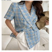 Women's Suits & Blazers Korean Style Thin Short-sleeved Suit Jacket