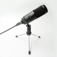 Streaming USB Mikrofon Metallkondensor Mikrofoner för bärbar dator Recording Studio Streaming Karaoke YouTube Tiktok