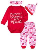 Tute Baby Bambino San Valentino Outfit Girls Infant Boys Gown Pagliaccetto Born Agriturismo Raffiglia Gamba Tuta Abbigliamento manica lunga