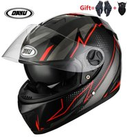 Motorcycle Helmets 2021 Full Face Helmet With Dual Lens Double Visors Off Road Motocross Motorbike For Adults Man