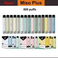 New Miso Plus Puff Plus Disposable Vape Pod Device 560mah Battery 2.4ML Cartridge Vaporizer Starter Kit Miso Vape