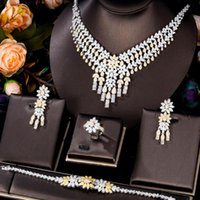 Earrings & Necklace GODKI Super Luxury Bicolor Crown Design Women Wedding Naija Bridal Cubic Zirconia Dubai Dress Jewelry Set