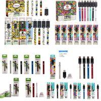 Originele ECT COSO VV DC Vape Pen E Sigaret Voorverwat Batterij Kits Olie Vaporizer Voorverwarmen Batterijen 380mAh Veel kleuren zijn beschikbaar Kleurrijke Minions Packaging 510