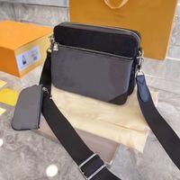 2021 Herrenklassische Drei-in-One-Messenger Bag Mutter und Kindertasche für einmalige Verwendung, hochwertige Leder-Luxusgüter mit Geschenkbox
