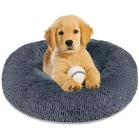 Cat Beds & Furniture Round Super Soft Dog Bed Warm Plush Mat For Large Dogs Puppy House Nest Cushion Pet Product Accessories