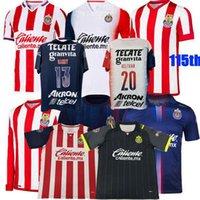 2021 2022 Guadalajara Soccer Jerseys Chivas Regal Macias I.Brizuela A.VEGA Home Away 3ème 20 21 22 115e Football Hommes Chemise S-3XL