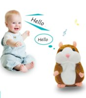 15cm Talking Hamster Mouse Pet Plush Toy Hot Cute Speak Talking Sound Record Hamster Educational Toy for Children Gifts