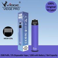 Vidge Pro Vapepen Disposable Vape E Cigarettes Mesh Coil Design 1200mAh Battery 9.0ml Capacity Wholesale Bulk Price Factory With Certification
