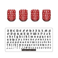 Hot Nail Art Stamping Goth letra Gothic Style Palavras Prego Stilling Placas Manicure Stence Set para Nail Stamping