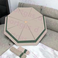 Guarda-chuva de intertravamento do vintage Guarda-chuvas Automático dobrável da moda dobrável da forma Sunny Guarda-chuva ensolarado com o deslizamento da poeira da caixa