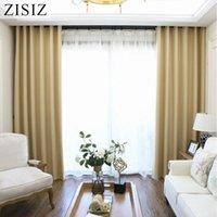 Cortinas cortinas zisiz color sólido cortinas apagones modernas para la sala de estar dormitorio en la ventana de la ventana Tratamiento personalizado Tamaño