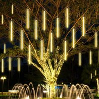 LED Tüp Dize Işık Meteor Duş Yağmur Tüp Lambası Açık Dekorasyon Noel Işık Ağacı Parti Ev Bahçe için 50 cm 8 Tüpler