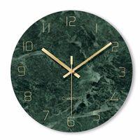 Wall Clocks Creative Minimalist Marble Texture Clock Modern Design Digital Watch