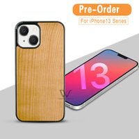 Phone Cases For iPhone 13 Pro Max Mini 12 11 7 8 Plus Blank Wooden TPU PhoneCases Shockproof Back Cover Shell Wholesale