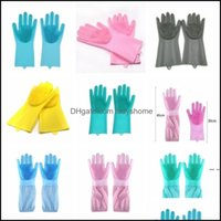 Household Tools Housekee Organization Home & Gardendishwashing Brush Scrubber Sile Kitchen Gloves Heat Resistant For Cleaning Car Pet Hair C