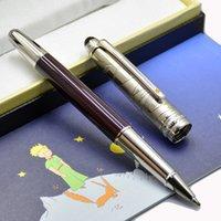 Роскошная ручка Meistar Petit Prince, пишущий роликовый шар, шариковая, фонтан ручки коричневые и серебряные пилотные шапки с серильным номером