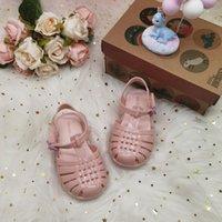 Mini Melissa Plaj Slayt Sandal Kız Jöle Sandalet Yaz Roma Ayakkabı Çocuk Plaj Erkek Ayakkabı Toddler Şeker Sandalet HMI001 210305