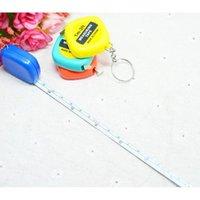 Mini Maßband 1m Portable Tape Kunststoff mit Schlüsselanhänger Ziehen Machthaber Messwerkzeuge Mischfarben Geschenk für Studen Jlllrz Insyard