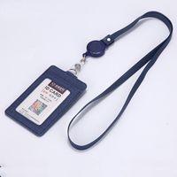 Porta carte 1PC PU Copertura da lavoro con cordino retrattile Business Business Business PASS AUTO BUS BUST Holder Holder Holder
