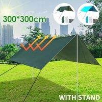 Shade Multifunctional Tent Tarp Outdoor Awning Lightweight Rain Sun Hammock Anti-UV Picnic Hiking Mat Camping Shelter With Stand
