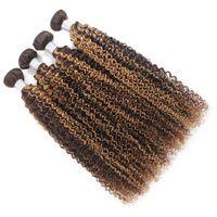Ishow Wefts Loothts Profond Sight 4/27 Ombre Couleur Brown Human Hair Bundles 8-28 pouces Brésilien Body Wave Curly Péruvien VirgN VirgN EXTENSIONS POUR LES FEMMES TOUS LES AVANTS