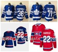 22 Cole Cole Jersey Montreal Canadiens 71 Nick Foligno 36 Jack Campbell Toronto Maple Leafs 2021 Reverse Retro Hóquei