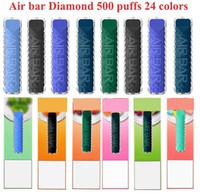 AIR BAR DIAMOND Disposable Pod Device Kit E cigarettes 500 Puffs 380mAh Battery 1.8ml Prefilled Cartridge Vape Stick Pen Vs Puff plus Max Lux Starter Kits 24 colors