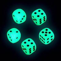 14mm Luminous DICE D6 D6 6 Sided Glowing Dices Glow Bosons Dark Bosons Noctilucent Cubes Boire Jeux Funny Pub Bar Jouets Bon prix de haute qualité # S1