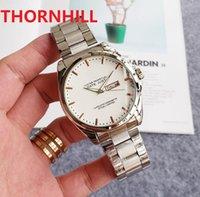 mens day date japan quartz movement watches 45mm full stainless steel sapphire luminous watch u1 factory montre de luxe
