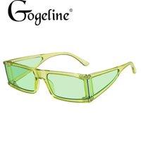 2021 جديد مستطيل نظارات المرأة أزياء صغيرة مربع مربع خمر نظارات الشمس الرجال ظلال الرجعية الأخضر oculos uv400