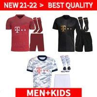 Erwachsene und Kinder Kit 21 22 Bayern Kit München Fußball Jerseys Lewandowski 2021 2022 Hernandez Coutinho Kind Erwachsene Uniformen Full Set Football