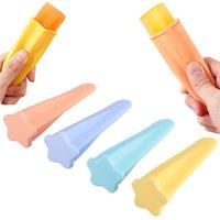 Silikon-Pirsch-Formen Ice Pops Mold Chocolate Gelee Maker BPA Free Handheld Eiswerkzeug Home DIY