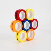 Tornado 3PCS Bague doigt Fidget Aimant Jouets   FINGERS Main Spinner Spiping Toy Set, bracelet magnétique magique pour soulagement du stress, anti-anxiété Autisme enfants adultes adolescents