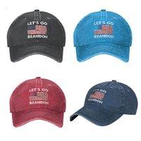 Lets Go Brandon FJB Dad Hat Baseball Cap for Men Funny Washed Denim Adjustable Hats Fashion Casual Hat
