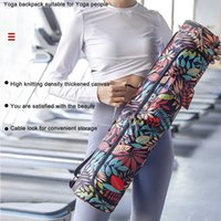 Printed Yoga Mat Bag Waterproof Pilates Mats Carrier Packs Sports Fitness Body Building Exercise Cushion Carrying Backpack H0911