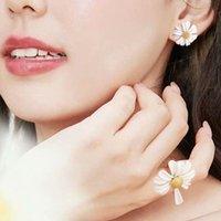 70 % 할인 데이지 베이킹 페인트 링 새로운 패션 달콤한 귀걸이 그물 빨간색 다용도 기질 틈새 디자인 꽃 쥬얼리