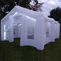 Настройка надувной свадебный дом VIP комната коммерчески возлюбленная гигантская партия партии с красочными полосками